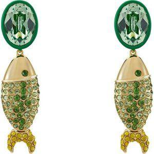 Swarovski Mustique sea life fish pierced earrings